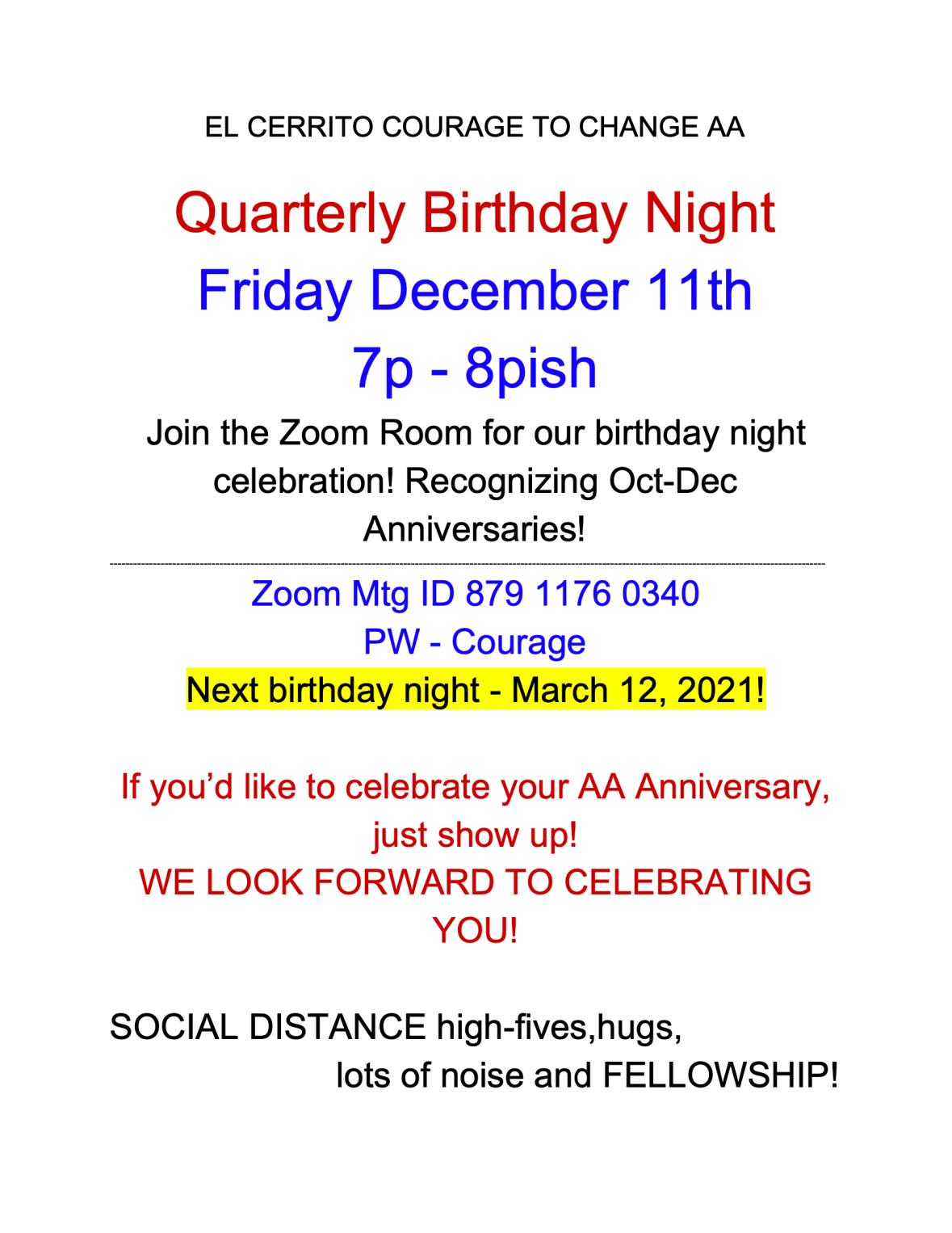 Dec 2020 B-day night flyer
